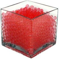 Crystle Soil Water Beads Jelly Mud Soil Water Beads Magic Crystal Balls (Red)