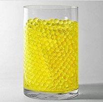Crystle Soil Water Beads Jelly Mud Soil Water Beads Magic Crystal Balls (Yellow)