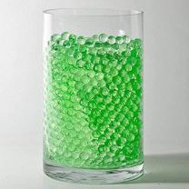 Crystle Soil Water Beads Jelly Mud Soil Water Beads Magic Crystal Balls (Green)