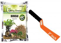Combo of 100% Organic Bonsai Potting Soil Mix 2kg with 2 Inch Khurpi for Pots
