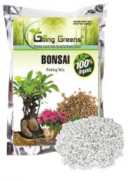 Combo of 100% Organic Bonsai Potting Soil Mix (5 Kgs) with White Marbles Chips (900 GMS)