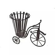 Wrought Iron Small Miniature Flower Cycle / Pot Stand