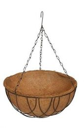 """Coco Hanging Round Basket with Liner 14"""" (1 pc)"""