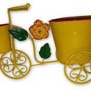 Wrought Iron Double Pot Cycle stand, Yellow