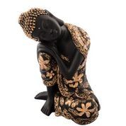 Pleasing Buddha Showpiece Red and Brown